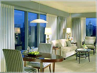 View of a Guest Suite in the Ritz-Carlton Boston Commons Hotel